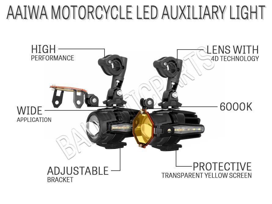 AAIWA Motorcycle LED Auxiliary Light