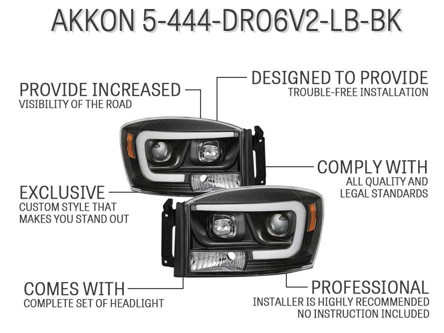 AKKON 5-444-DR06V2-LB-BK