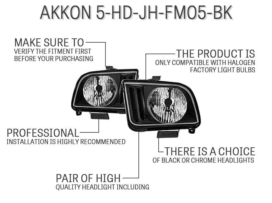 AKKON 5-HD-JH-FM05-BK