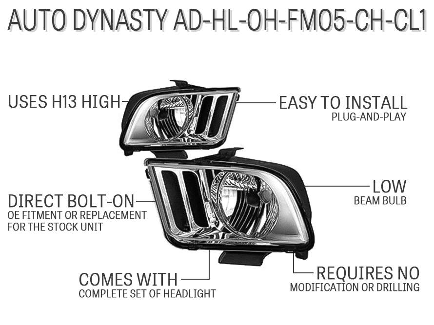 Auto Dynasty AD-HL-OH-FM05-CH-CL1
