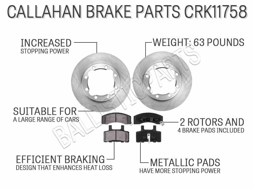 Callahan Brake Parts CRK11758