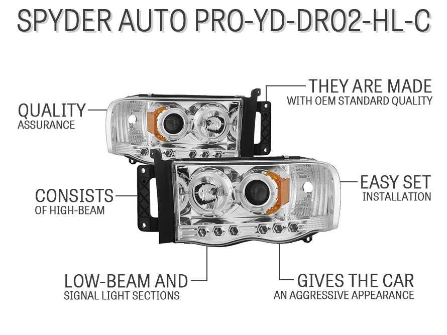 Spyder Auto PRO-YD-DR02-HL-C
