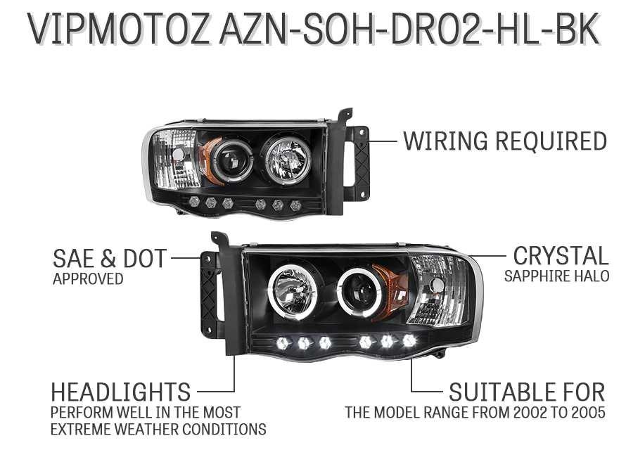 VIPMOTOZ AZN-SOH-DR02-HL-BK