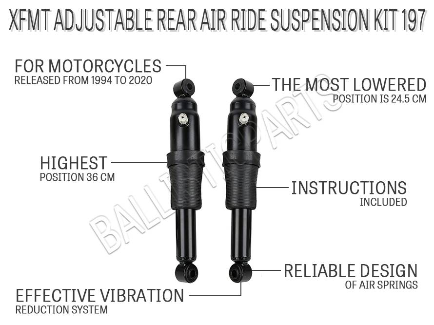 XFMT Adjustable Rear Air Ride Suspension Kit 197