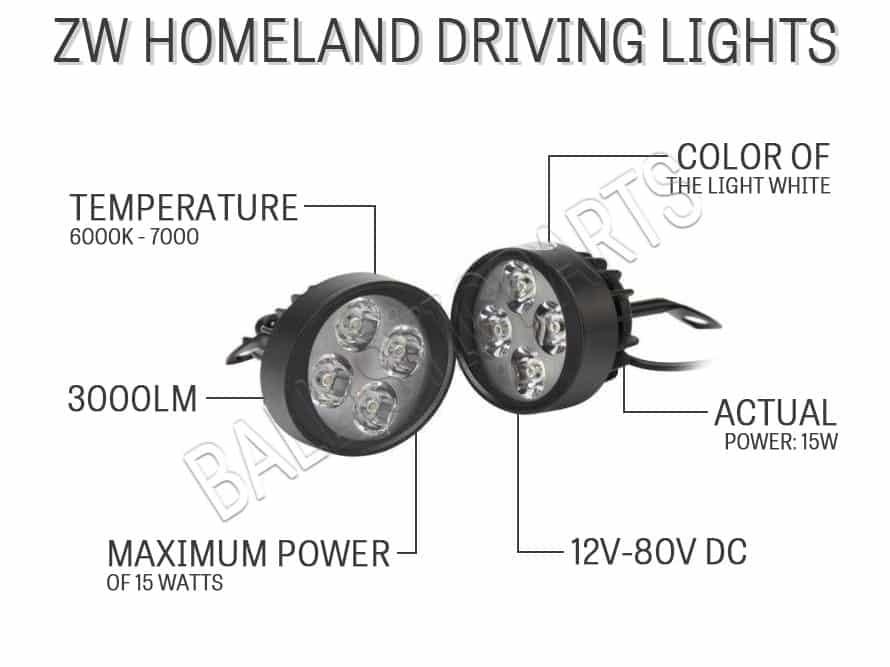 ZW Homeland Driving Lights